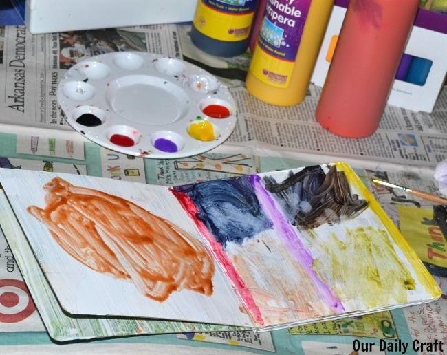 Turn an Old Board Book into a Kid's Art Journal #junkplay