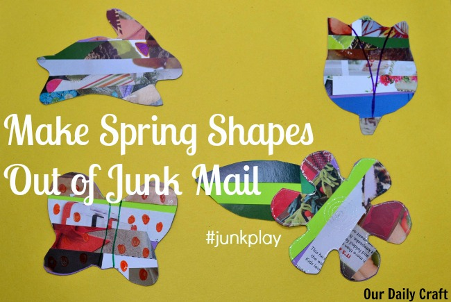 Turn a Junk Mail Collage into Fun Spring Decorations #junkplay