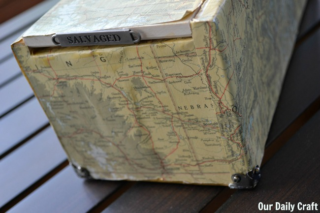 How to Decoupage a Box with Old Maps
