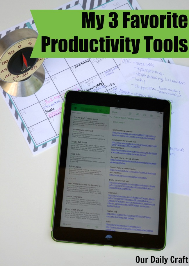My 3 Favorite Productivity Tools