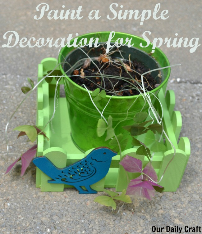 Spray-Painted Decoration for Spring and Summer