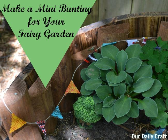 make a mini bunting