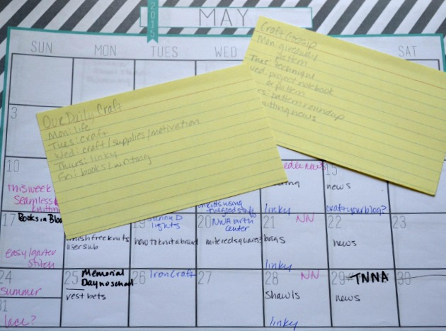 4 Reasons You Need an Editorial Calendar {Craft Your Blog}