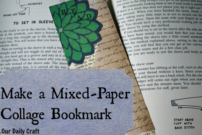 Mixed-Paper Collage Bookmark