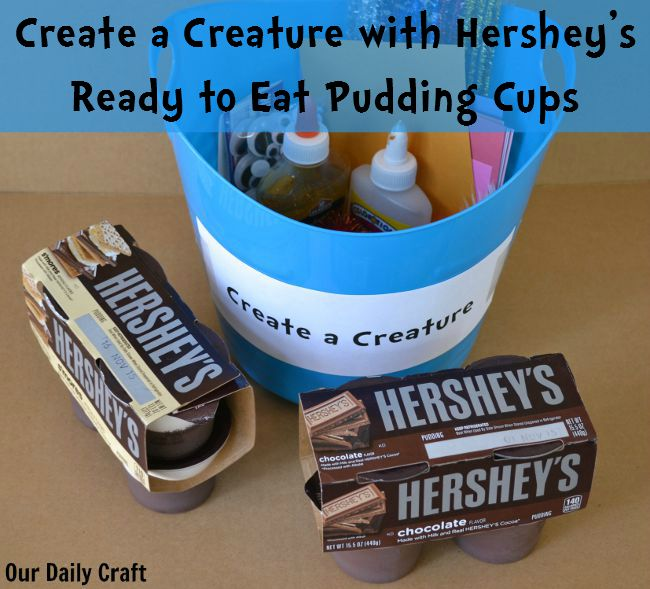 Have a Snack, Make a Craft with Hershey's Ready to Eat Pudding