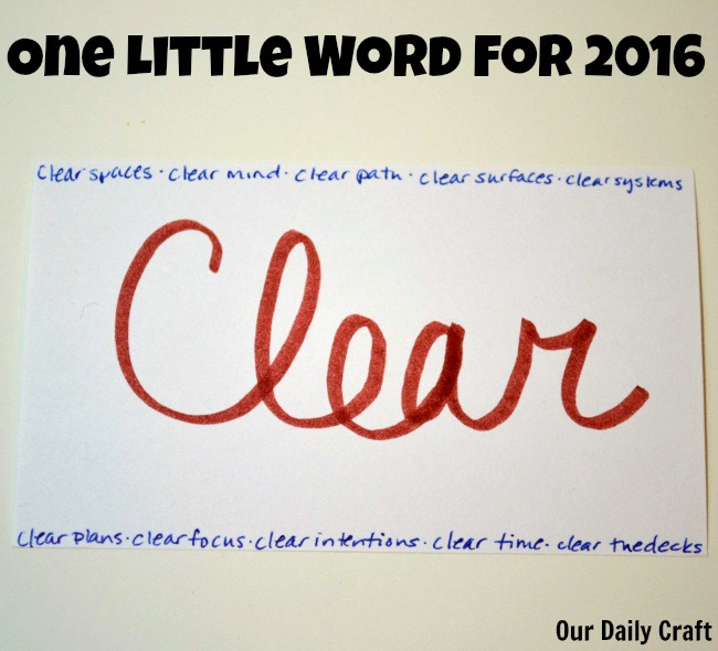 One Little Word for the New Year