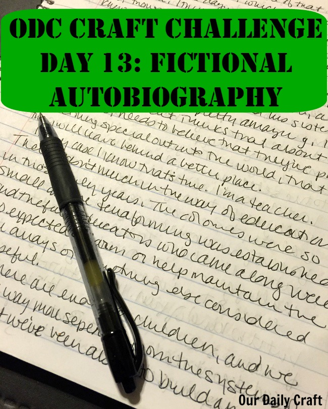 Write a Fictional Autobiography