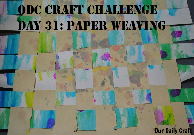 Paper Weaving {Craft Challenge, Day 30}