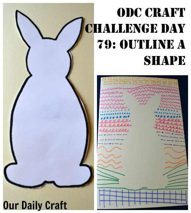 Outline a Shape with Designs {Craft Challenge, Day 79}