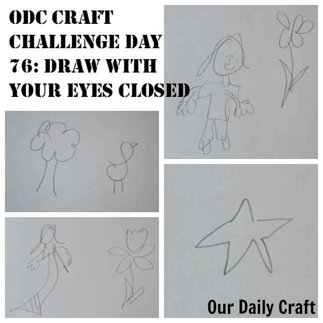 Draw with Your Eyes Closed {Craft Challenge, Day 76}