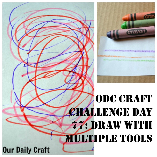 Draw with Multiple Tools at Once {Craft Challenge, Day 77}