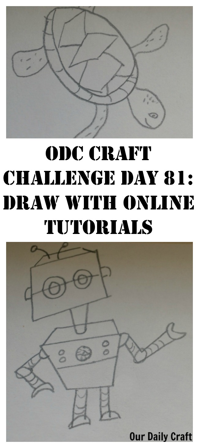 Draw Using Online Tutorials {Craft Challenge, Day 81}