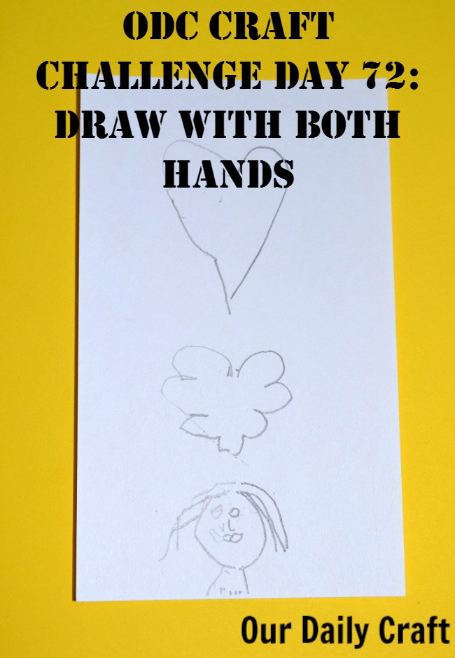 Draw with Both Hands at the Same Time {Craft Challenge, Day 72}