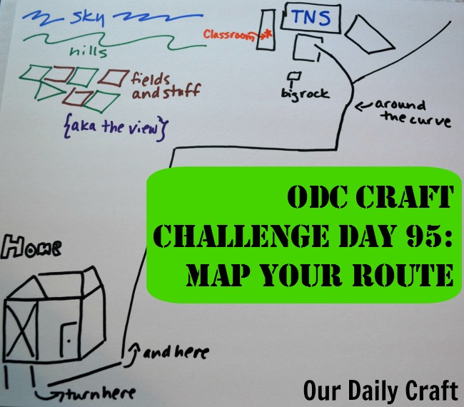 Map Your Route {Craft Challenge, Day 95}