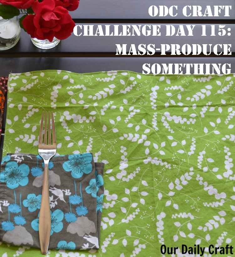 Mass-Produce Something: Simple Placemats {Craft Challenge, Day 115}