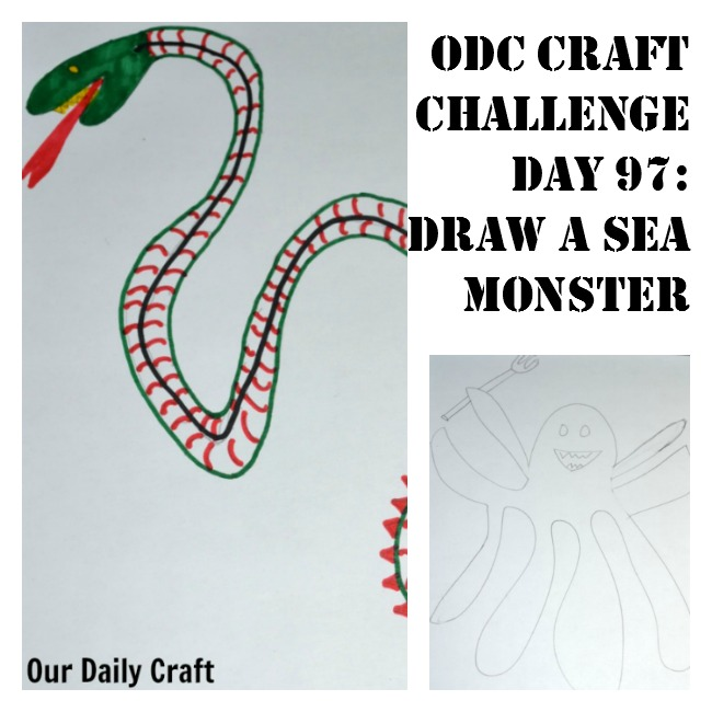 Draw a Sea Monster {Craft Challenge, Day 97}