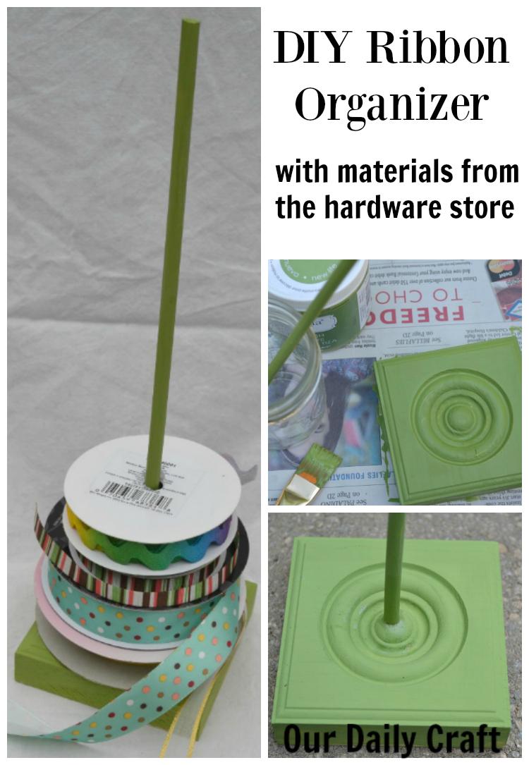 DIY Ribbon Organizer {Craft Challenge, Day 133}