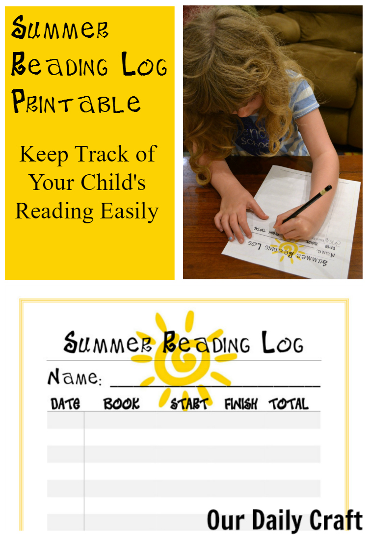 Summer Reading Log Printable for Kids