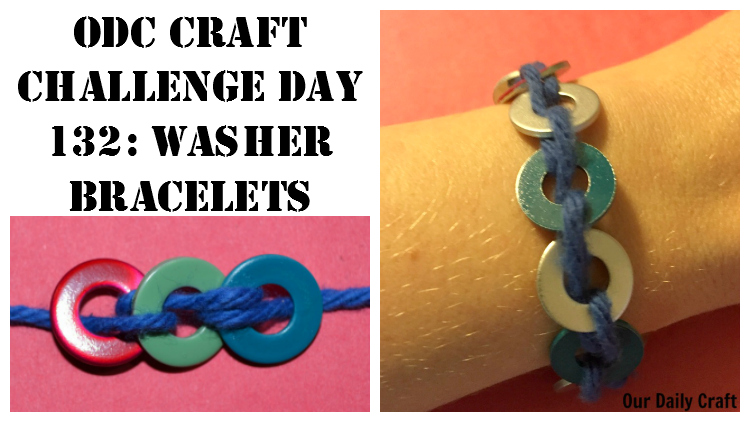 Washer Bracelets {Craft Challenge, Day 132}