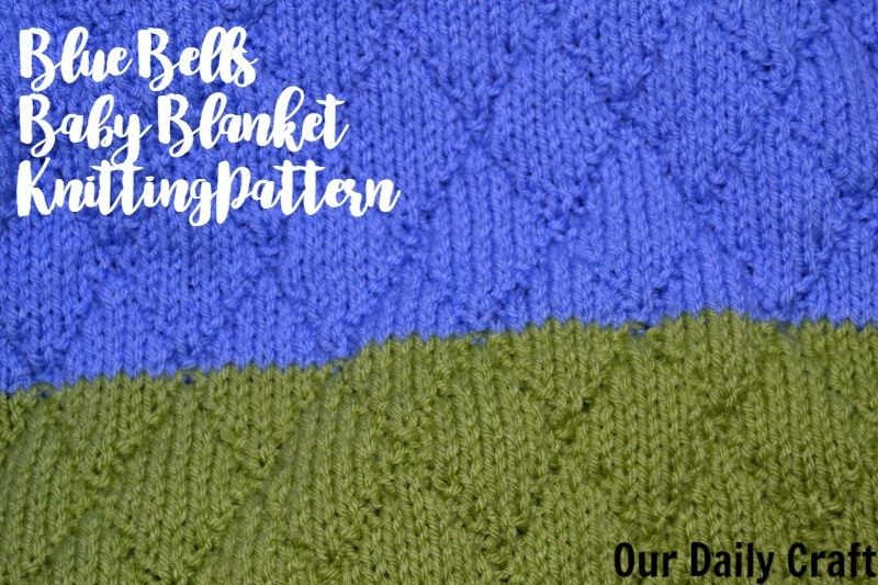 Blue Bells Baby Blanket Knitting Pattern
