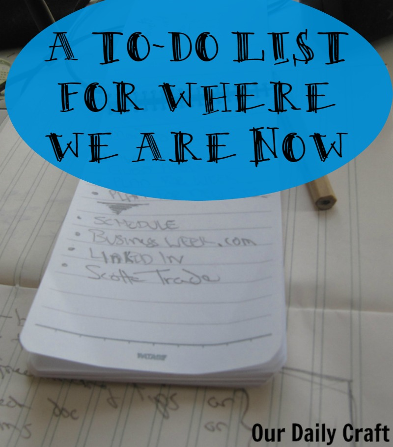 A To-Do List for Where We Are Now