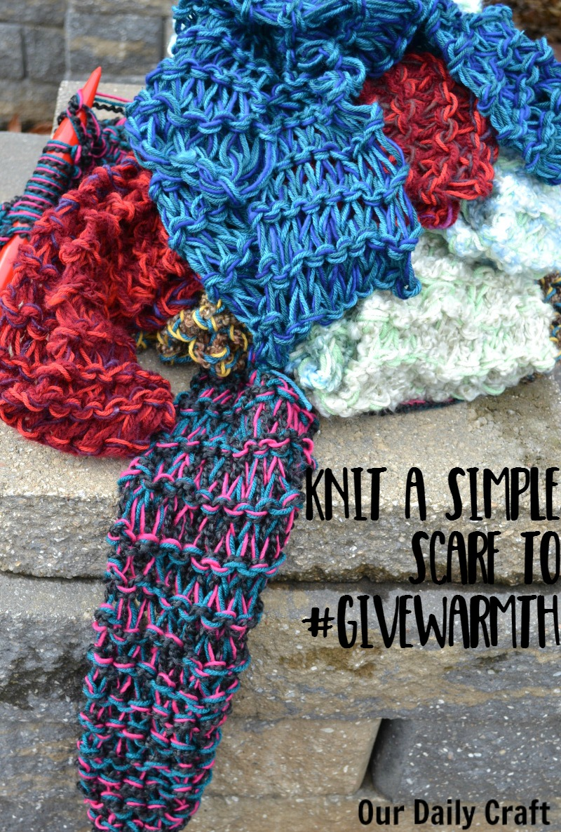Knit a Scarf to #givewarmth