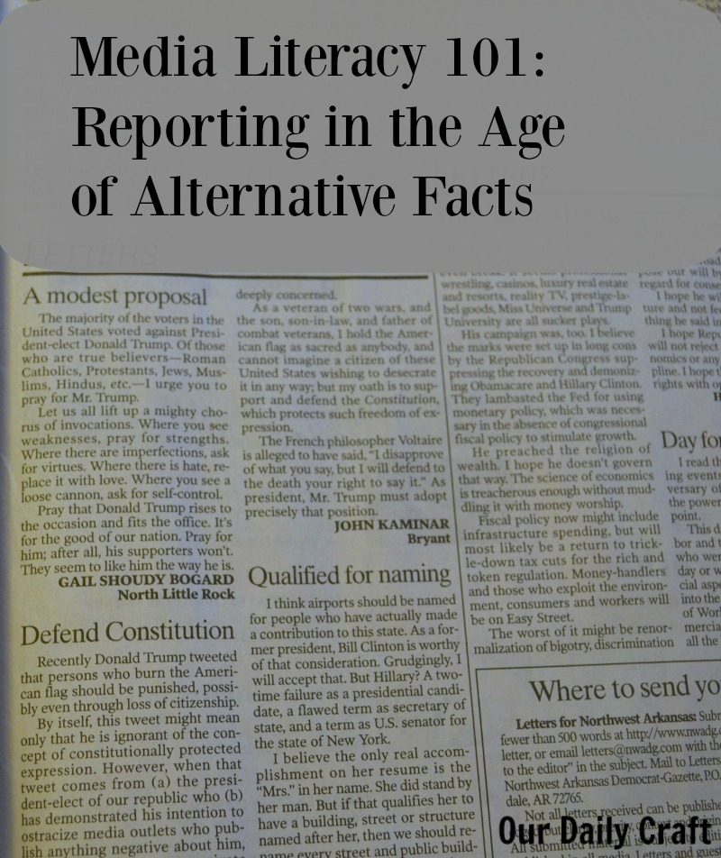 Media Literacy 101: Reporting in the Age of Alternative Facts