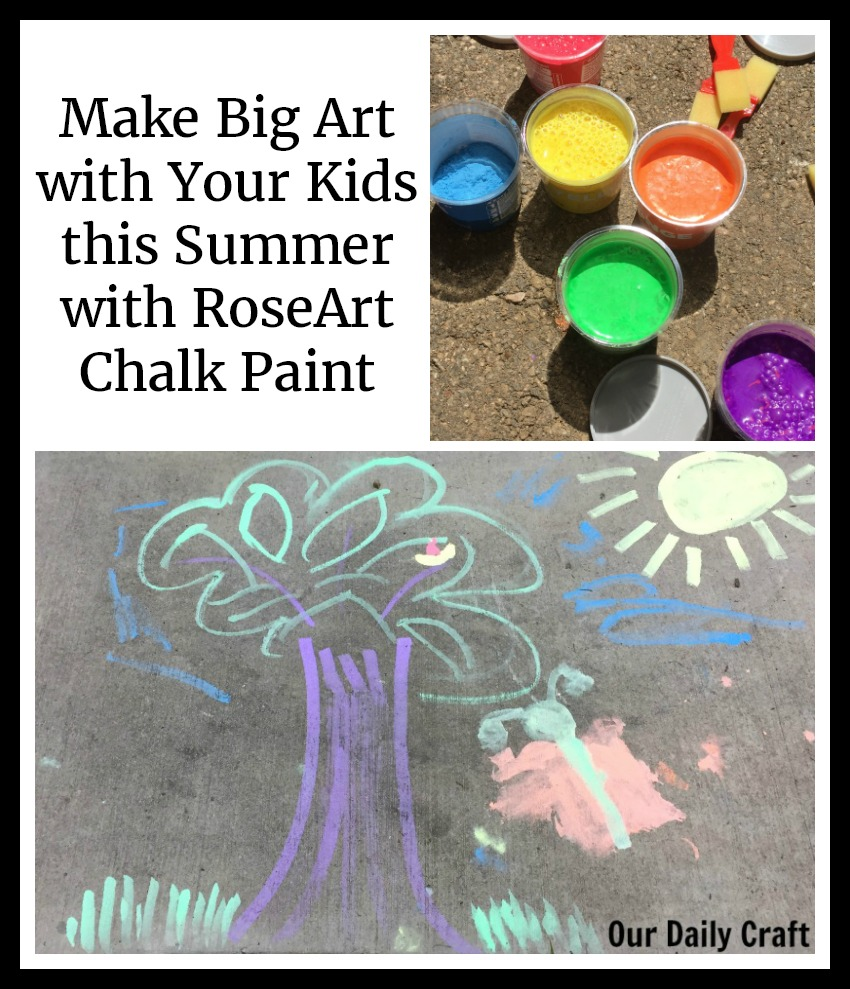 Make Big Art with Your Kids with RoseArt Washable Sidewalk Chalk Paint
