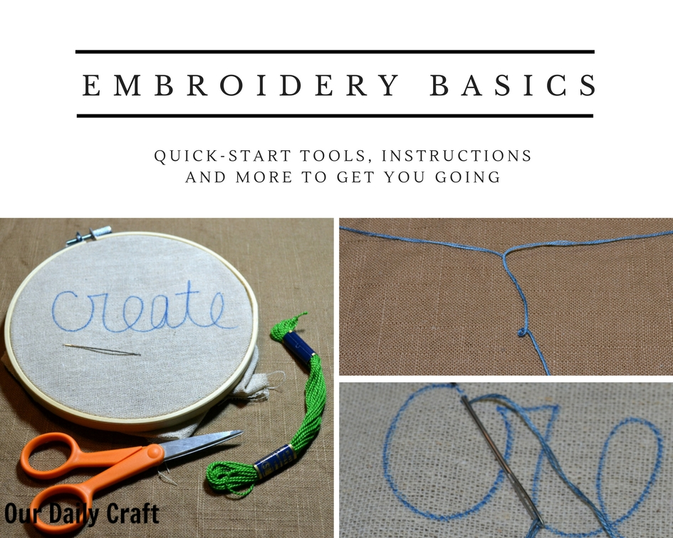 Your Quick-Start Guide to Embroidery