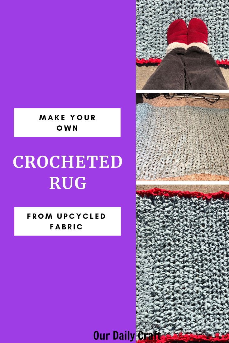 upcycled crocheted rug tutorial