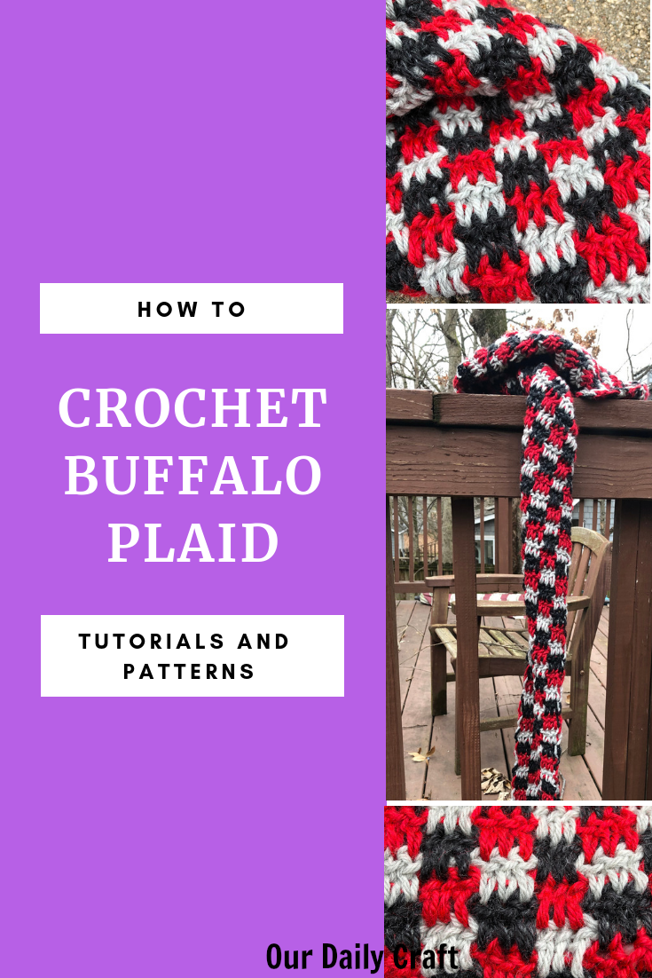 how to crochet buffalo plaid tutorial