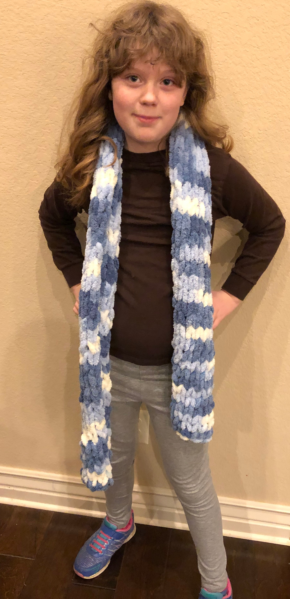 loop yarn scarf pattern