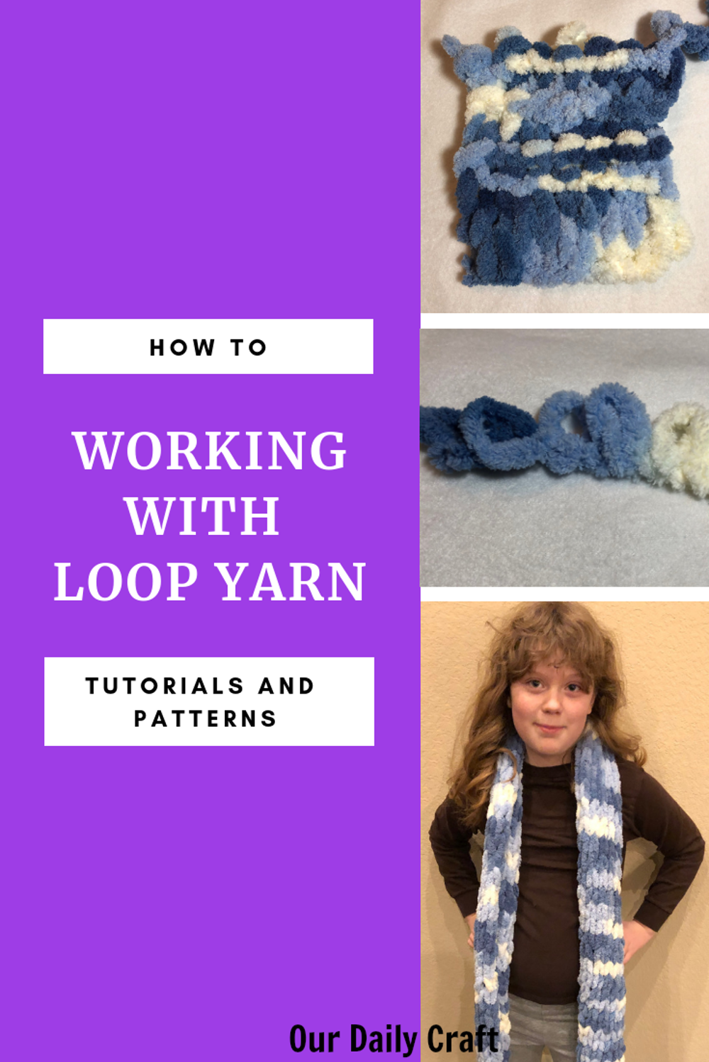knitting with loop yarn tutorials and patterns