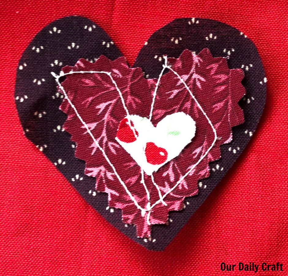 heart sewing project