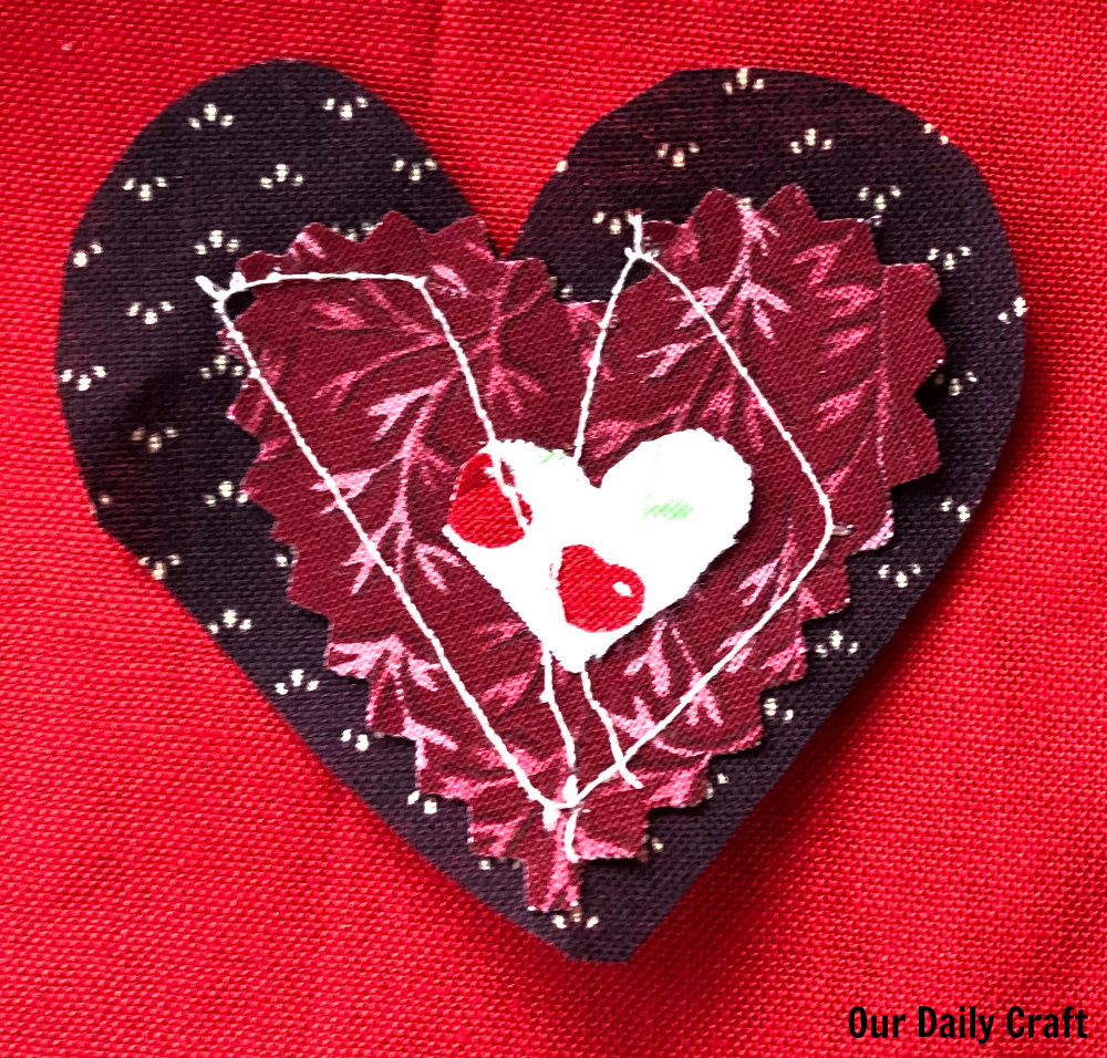 Process Art Fun: Layered Hearts Sewing Project