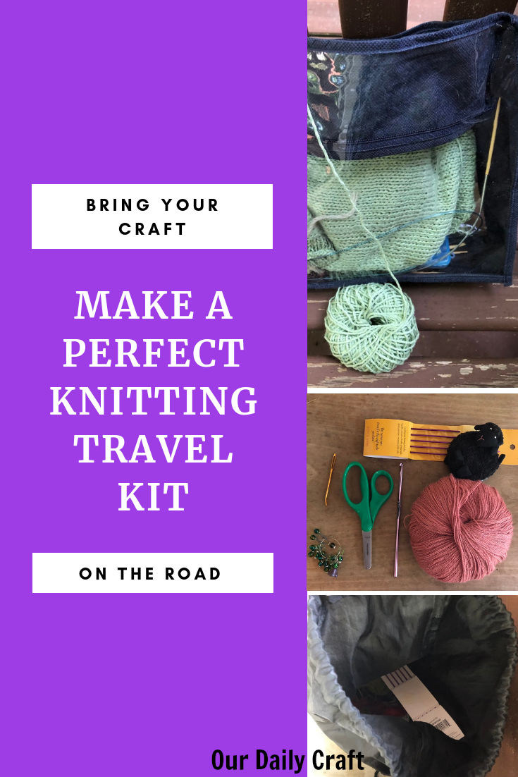 what to pack in a travel knitting kit
