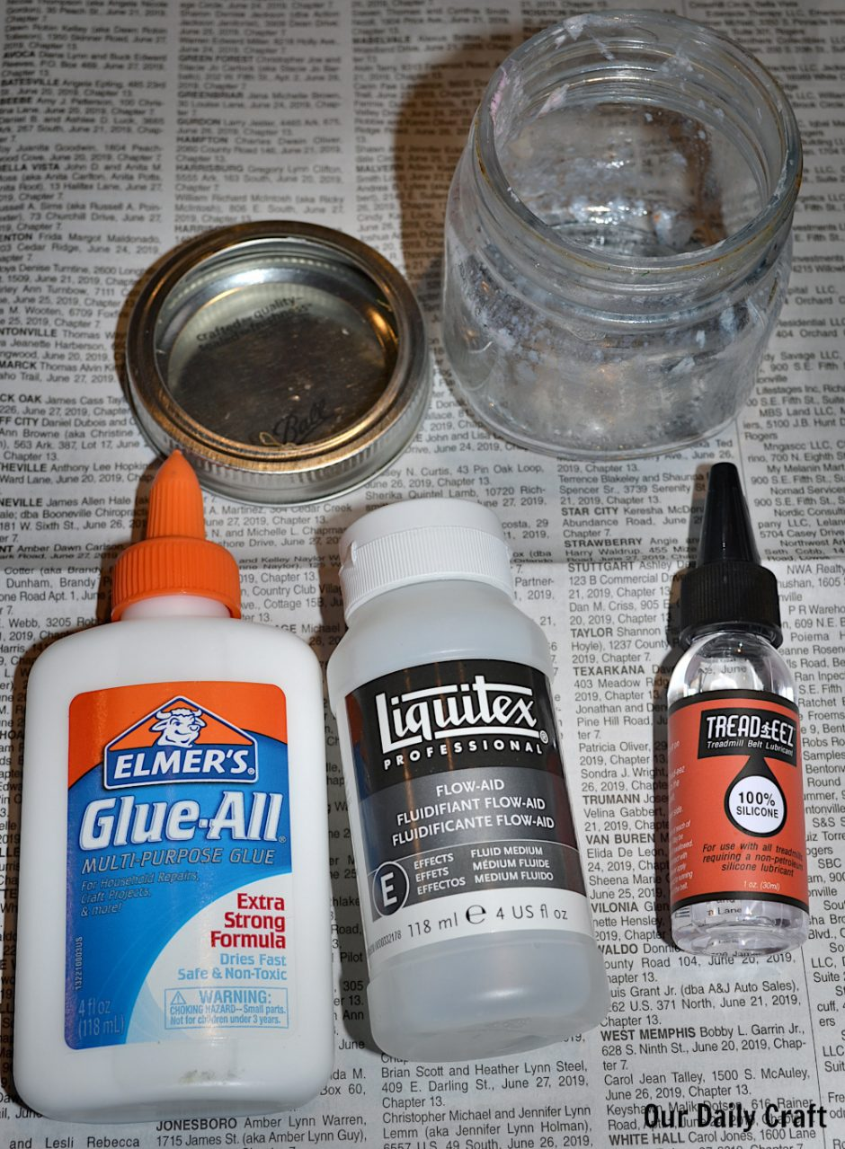 supplies for making diy paint pouring medium