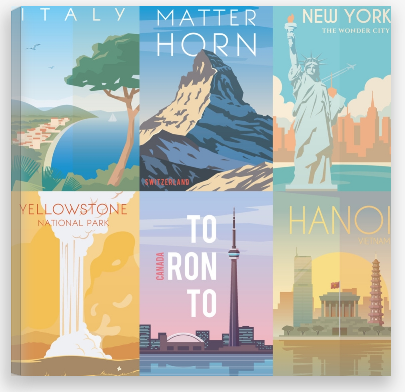 travel prints canvas factory