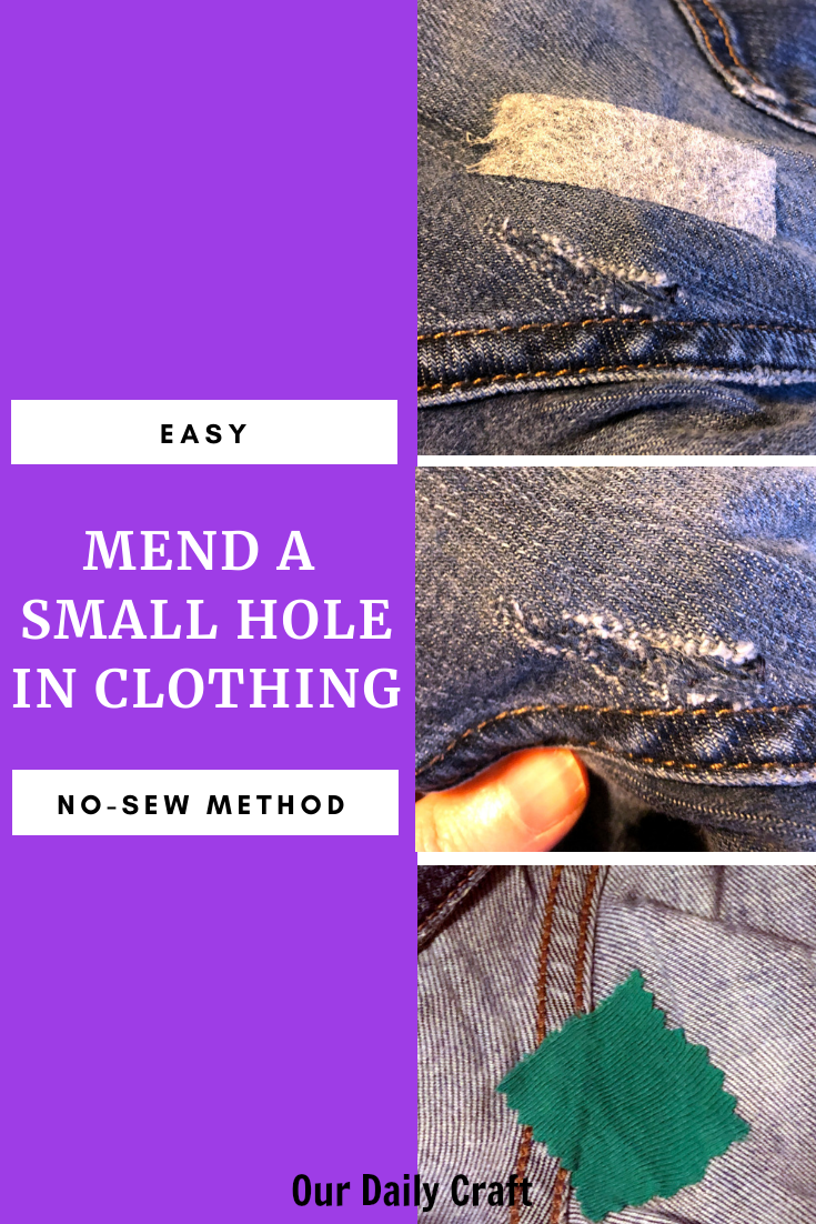 how to mend a small hole in clothing using stitch witchery