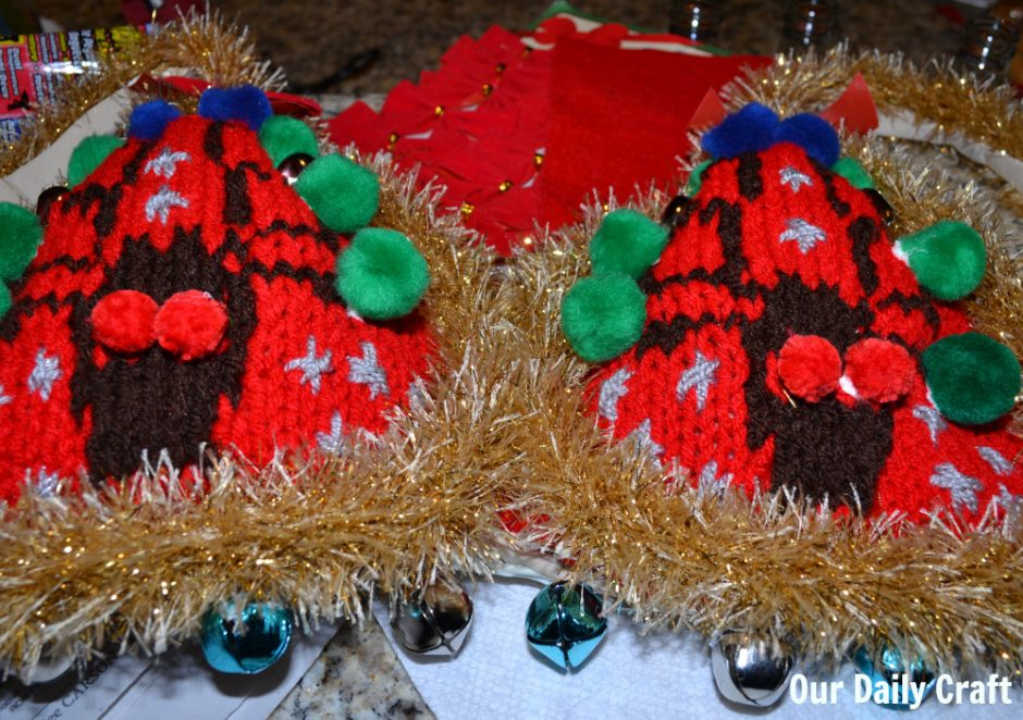 ugly christmas sweater bra decoration