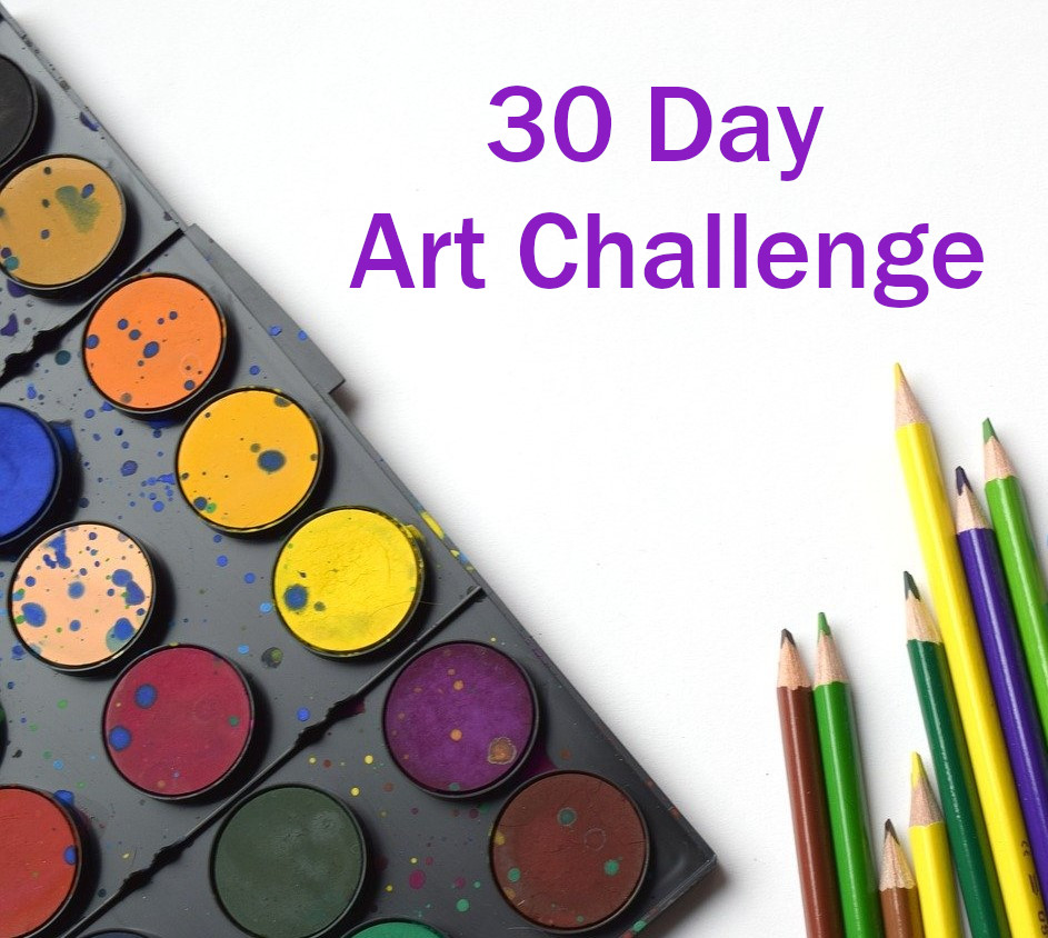 30 Day Art Challenge Ideas for Kids and Adults