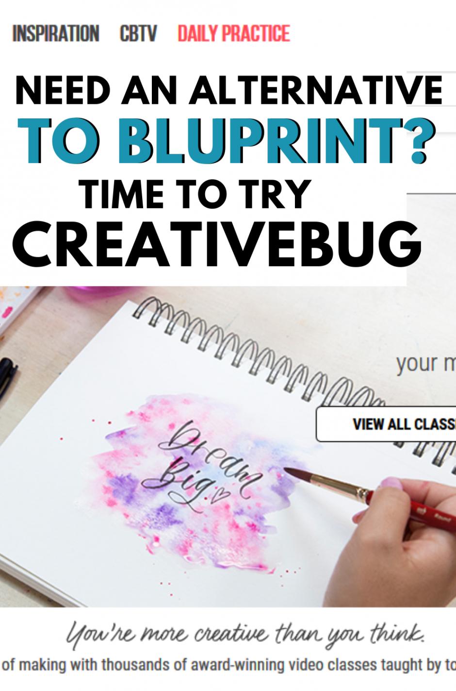 Creativebug as an alternative to Bluprint