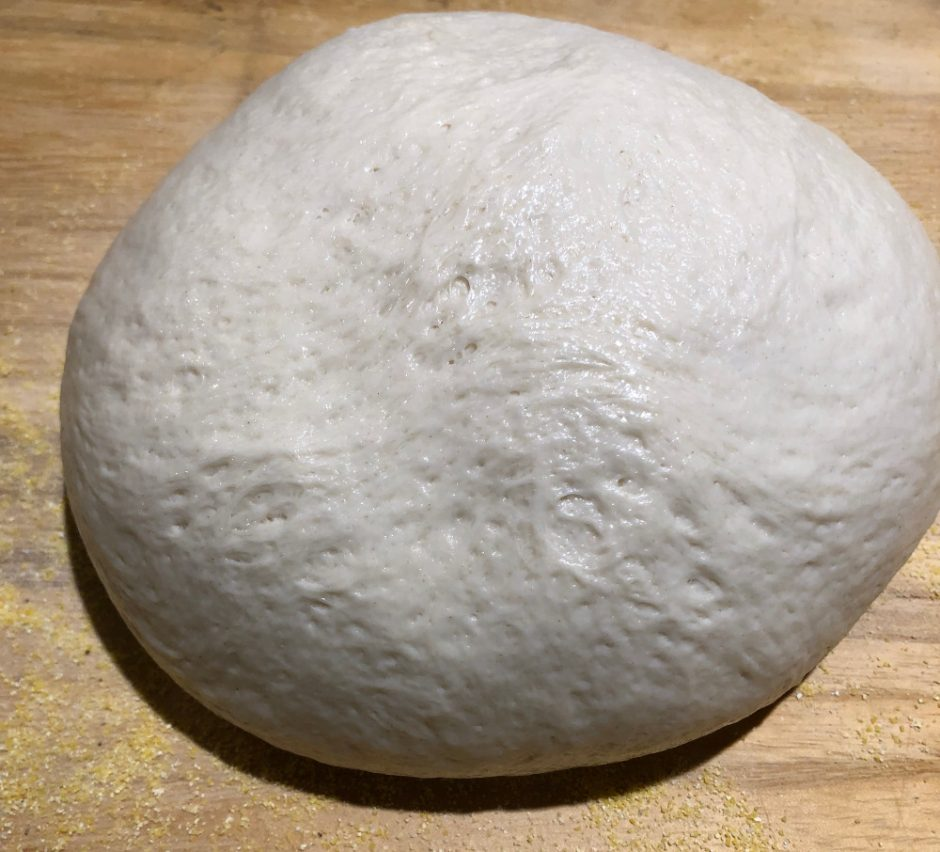 shaped bread dough