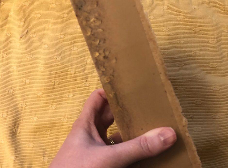 brick of pumpkin spice soap