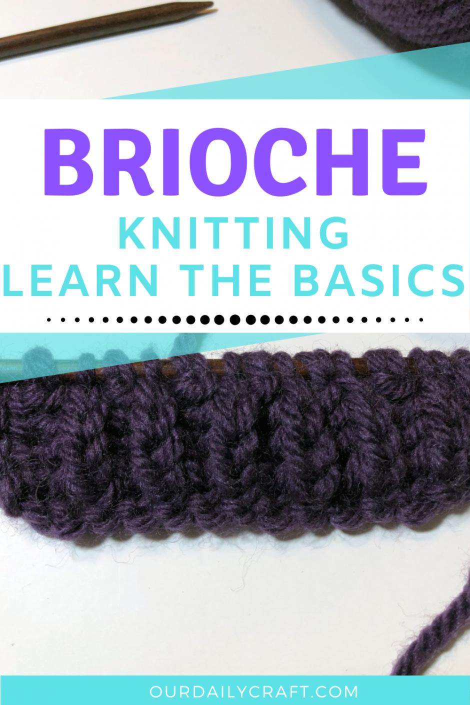 learn to knit brioche stitch