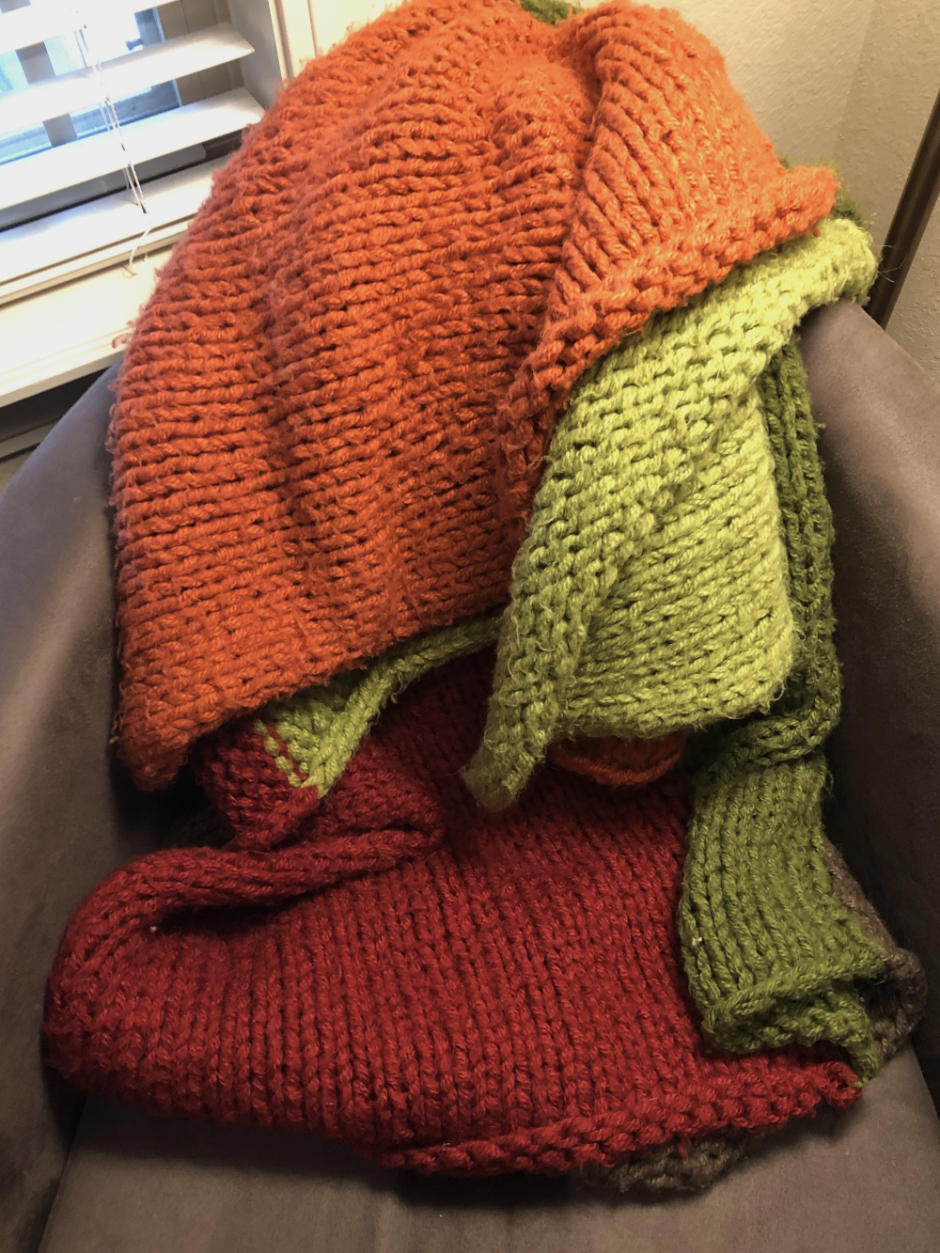 bulky stockinette throw knitting pattern